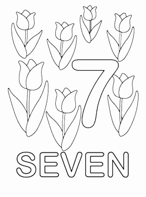 Number 7 Coloring Page Elegant 57 Coloring Pages Tulips