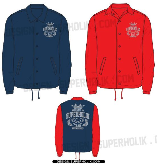coaches jacket template fashion vector templates in 2018