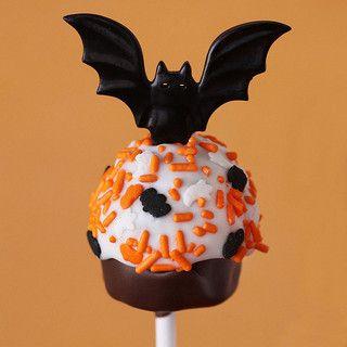 halloween bat cake pop