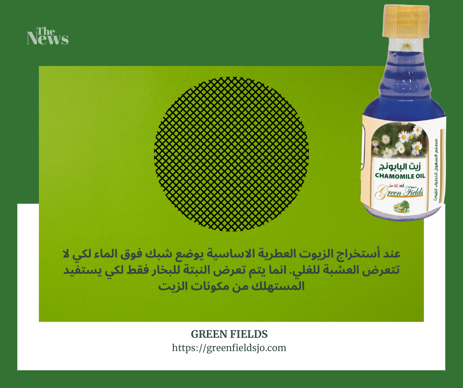 طريقة التقطير Chamomile Oil Oils Soap Bottle