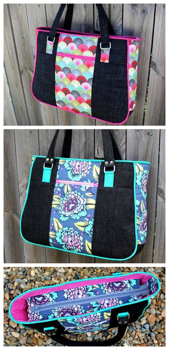 Goin\' uptown tote bag purse   Pdf sewing patterns, Easy access and ...