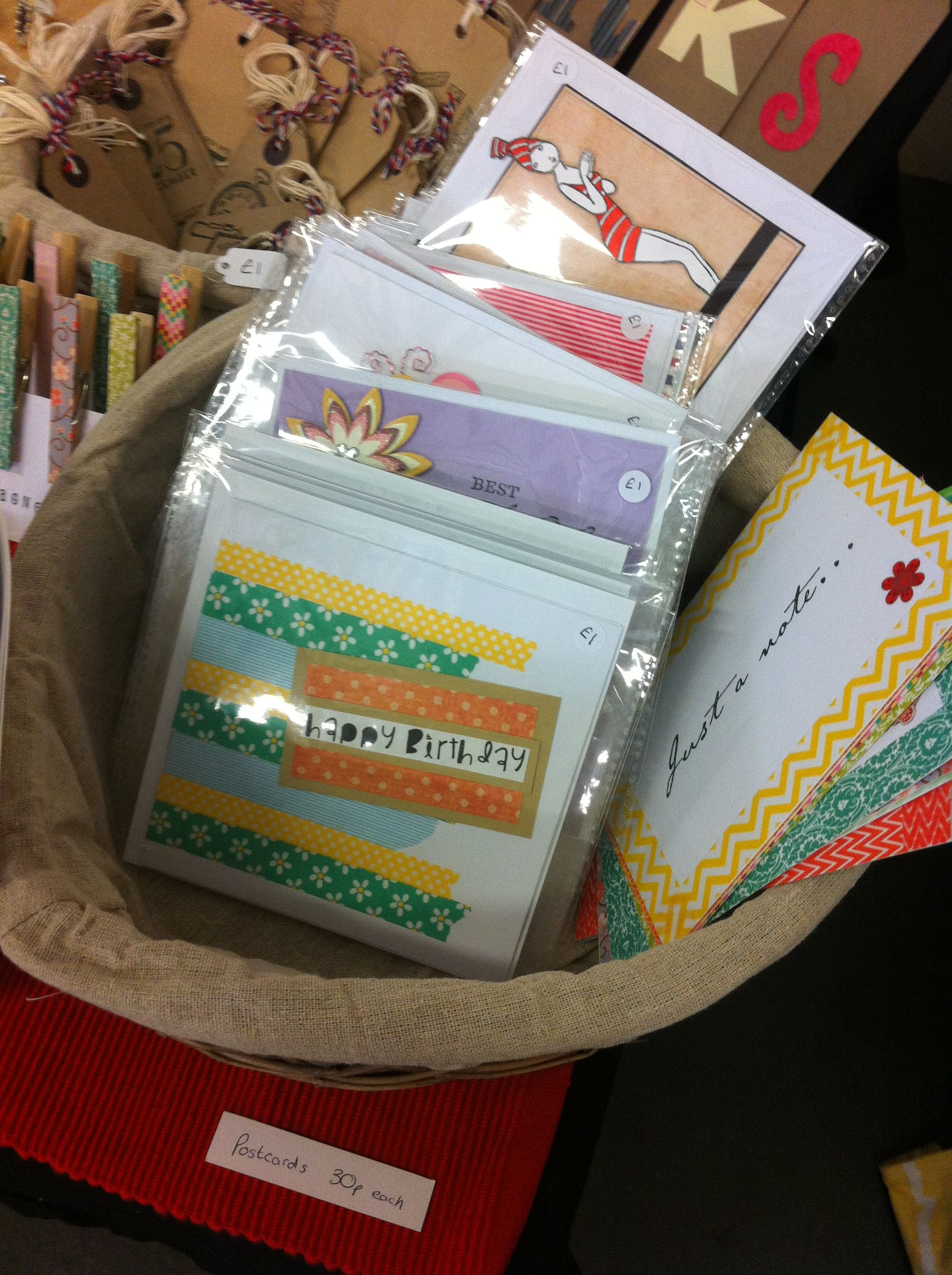 The Hidden Quirks Stall - handmade cards and postcards