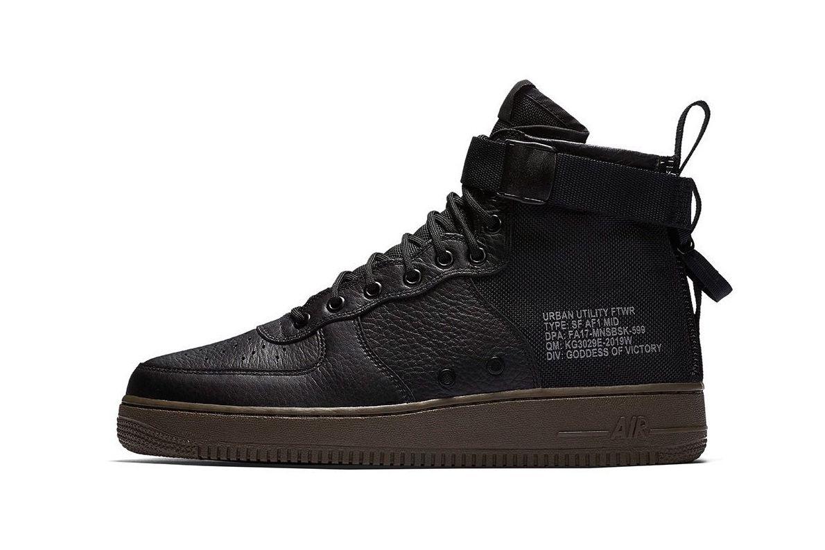 Nike SF Air Force 1 Mid Dark Grey Dark Grey Light Bone First Steps