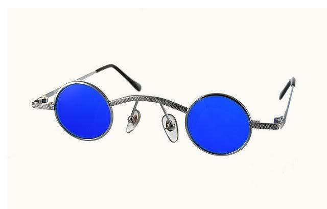4e733fa309 small round Gothic Vampire Steampunk sunglasses
