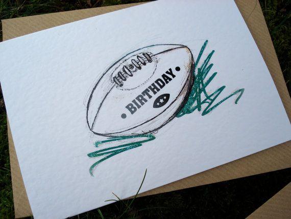 Rugby Birthday Card Rugby Birthday Birthday Cards Cards