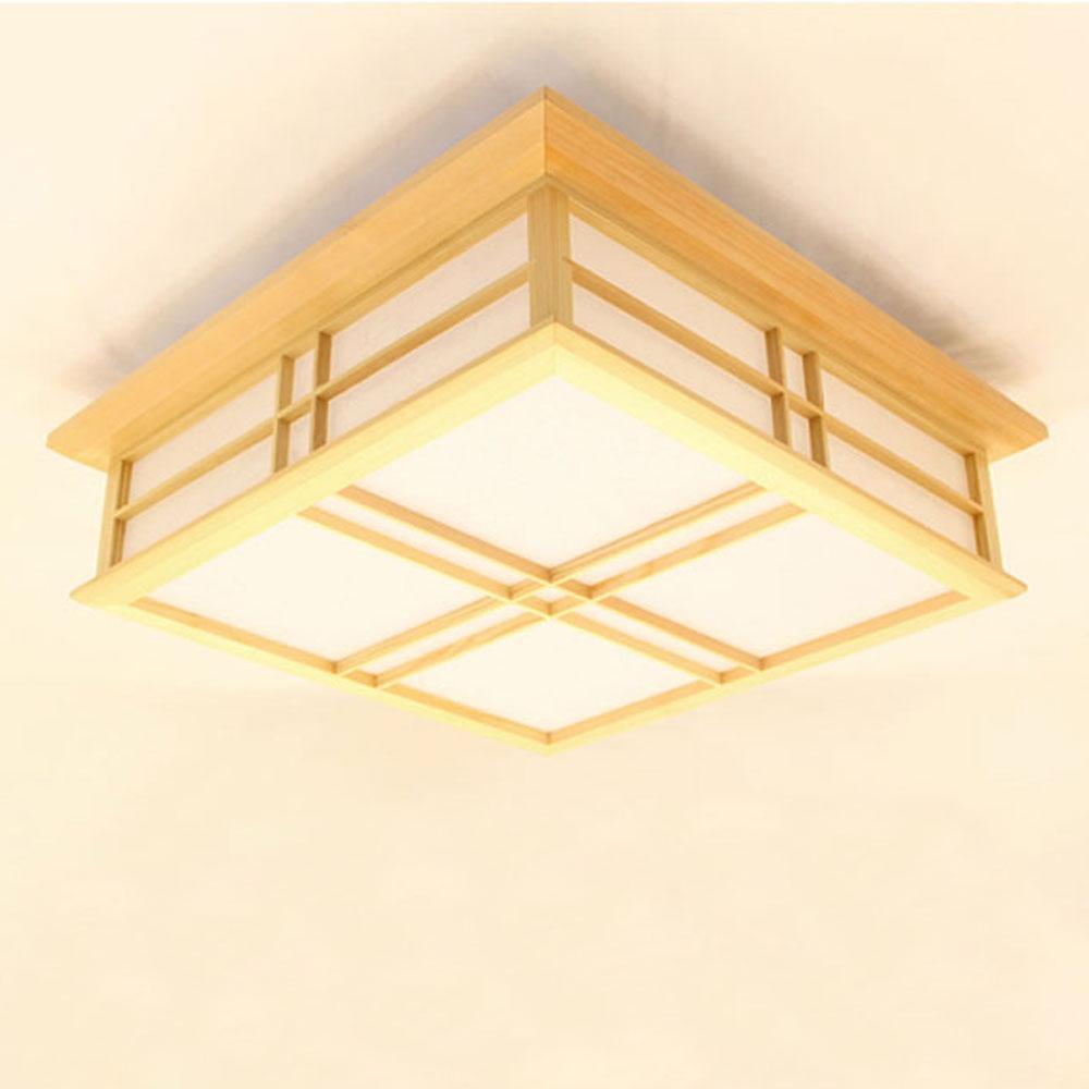 Moderne Deckenleuchte Led Aus Holz Eckig Fur Wohnzimmer Ceiling Lights Home Decor Decor