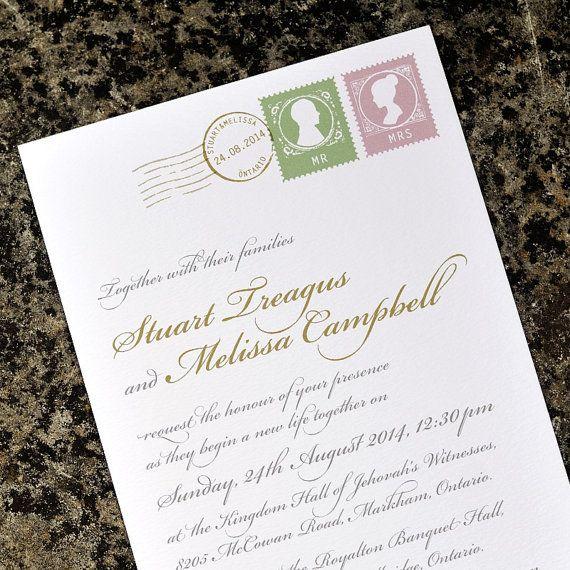Calligraphy Wedding Invitation Love Letter Design e Sample