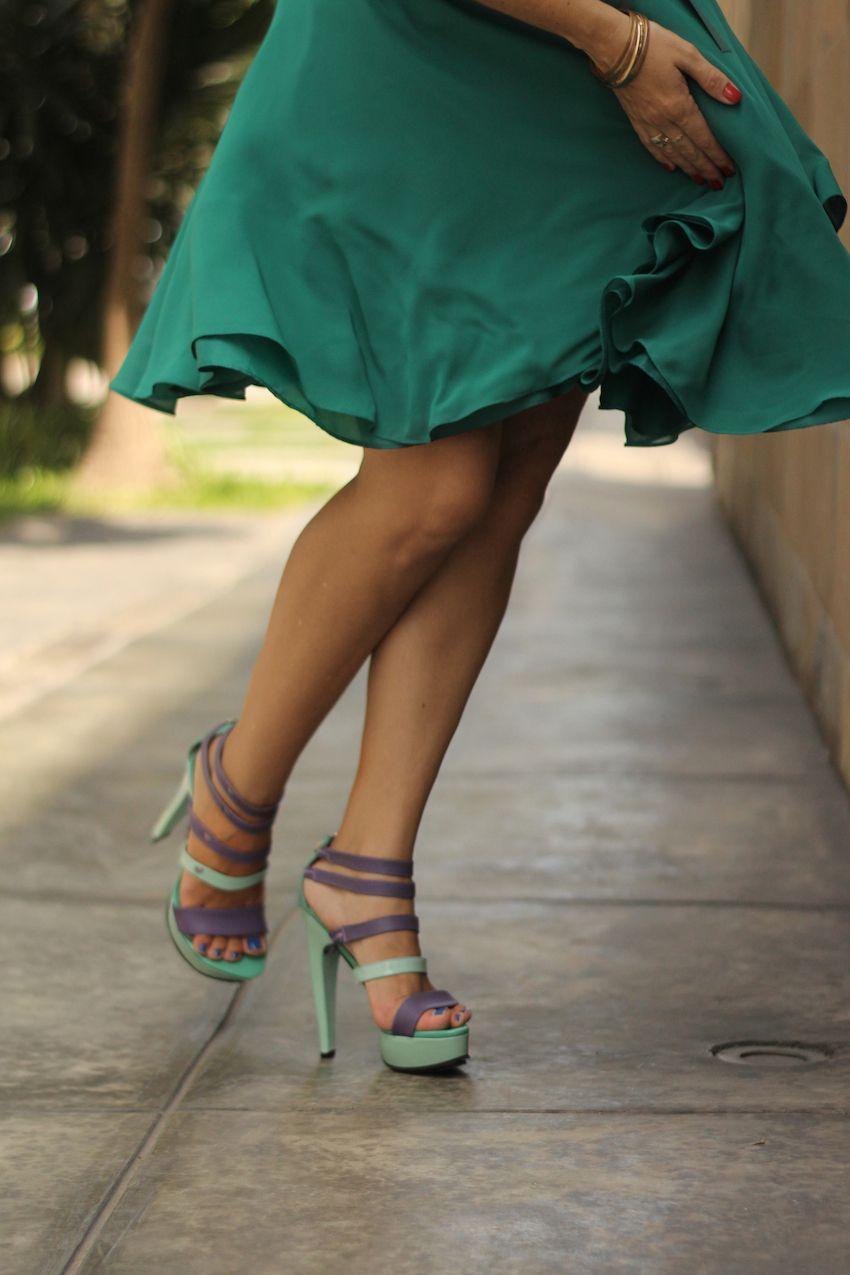 Vestido Verde Esmeralda de Roger Loayza + Zapatos LalaLove + La Vida de Serendipity 4