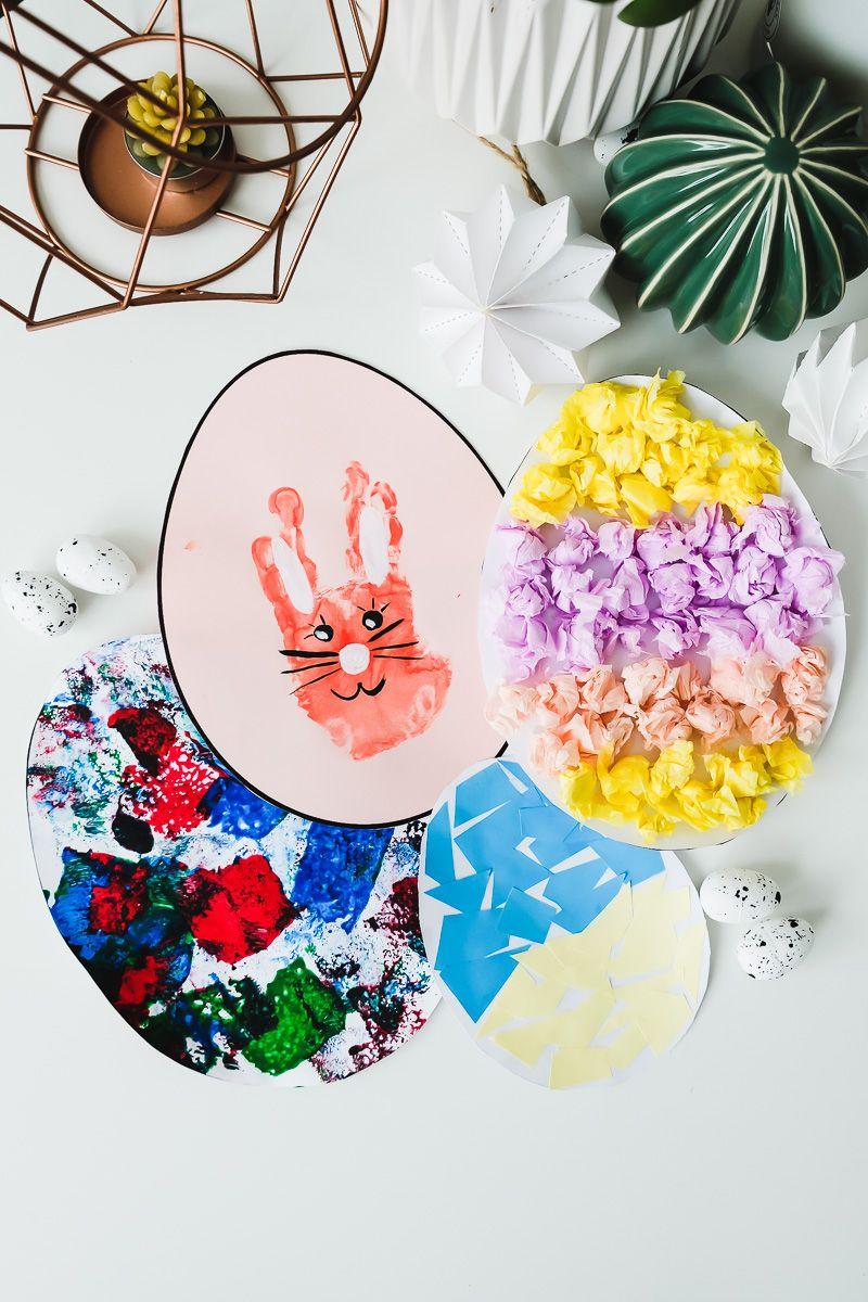 OSTERBASTELN KLEINKIND: 3 Ideen für einfache Ostereier aus Papier!