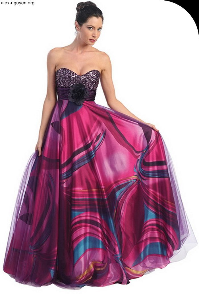 mix red and blue multi colored prom dresses | Prom Dresses | Pinterest