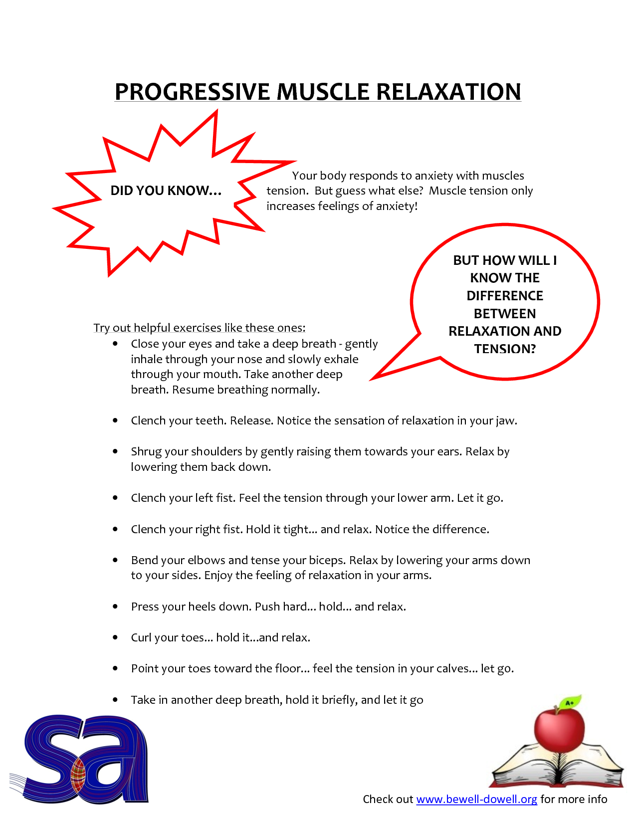 Progressive Muscle Relaxation Hand Out