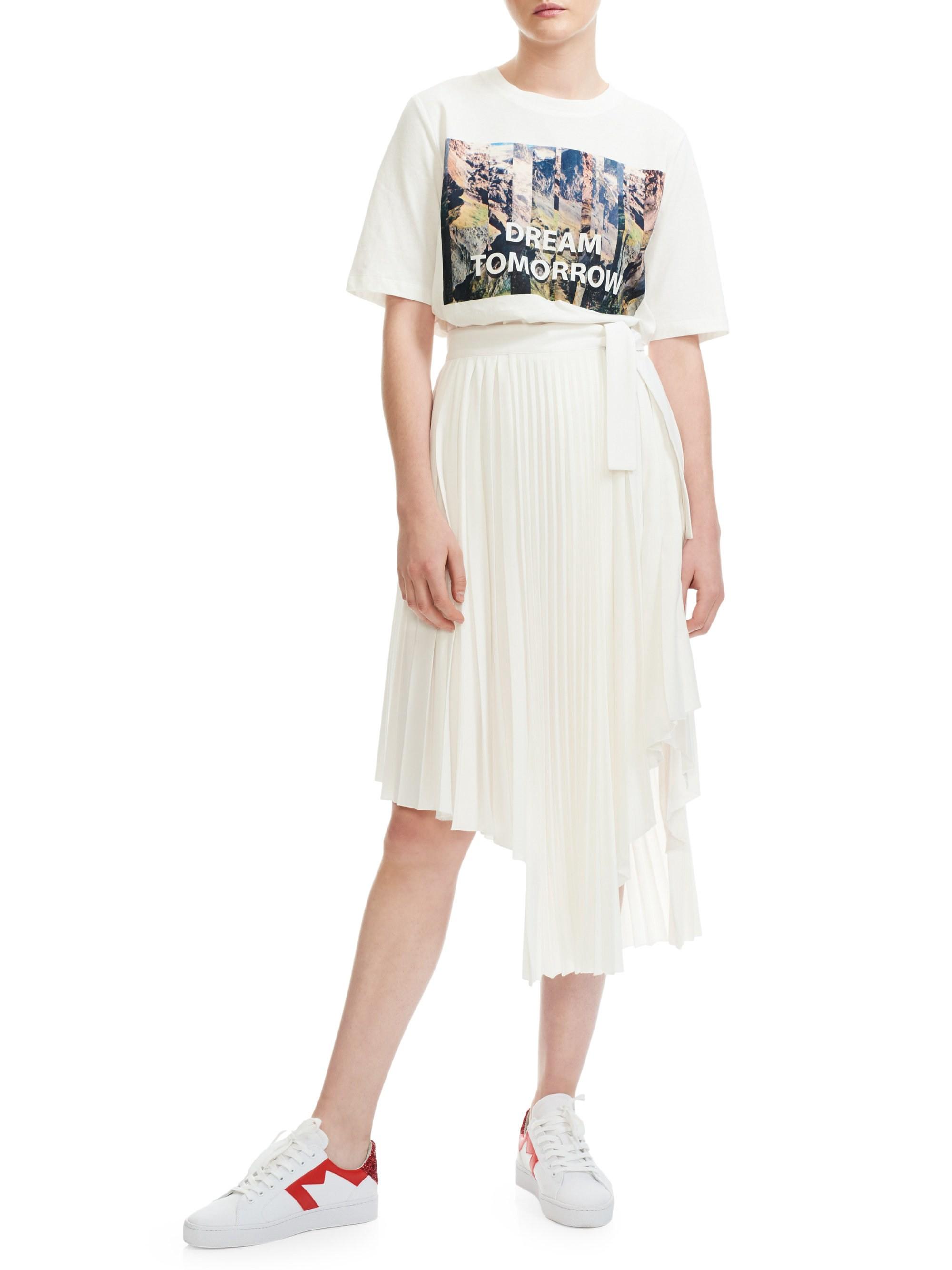 0dd0f4225 Maje Asymmetrical Pleated Wrap Skirt - White 36 (4) in 2019 ...