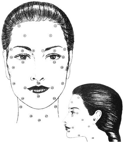 Facial Massage Pressure Points in 2019 | Facial massage ...