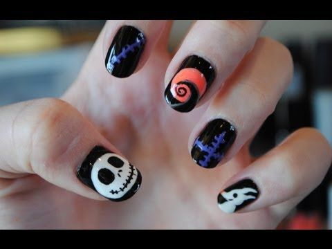 Nightmare Before Christmas Nails In 2018 Nail Art Designs