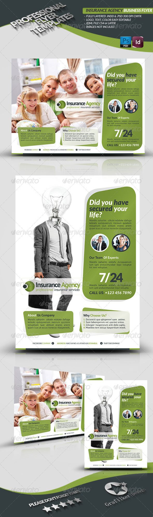Insurance Agency Flyer Graphicriver Insurance Agency Corporate