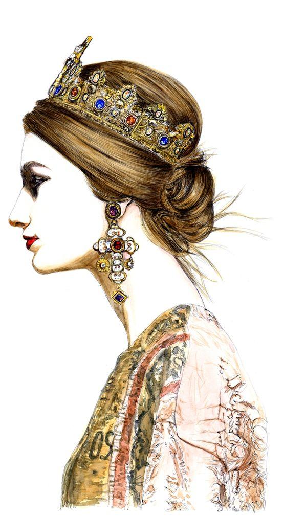 Dolce & Gabbana Fall/Winter 2013-2014 Fashion Show - Lidia Luna