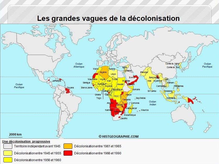 La Decolonisation Historical Maps Map History