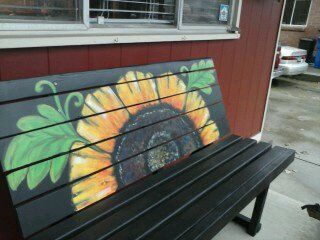 Enjoyable Cute Garden Bench Simple Wooden Bench Painted Black With Uwap Interior Chair Design Uwaporg