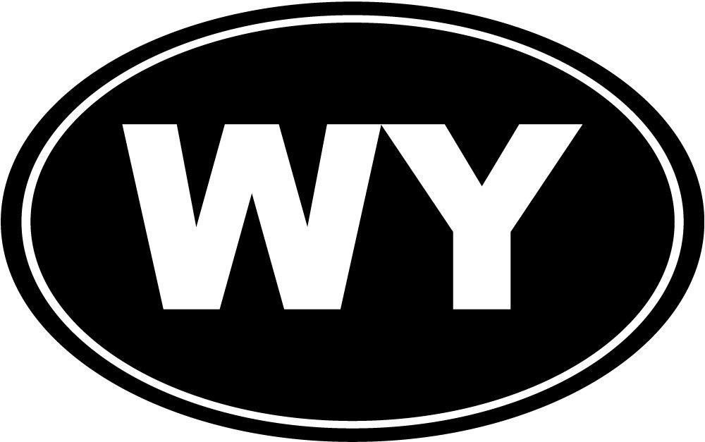 Wyoming WY Oval Die-Cut Decal Car Window Wall Bumper Phone Laptop