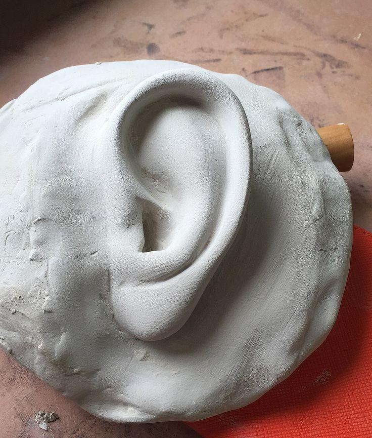 sculpture clay buste artwork