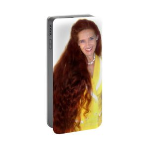 Sarah Goldberg. Super long red hair Portable Battery Charger for Sale by Sofia Metal Queen