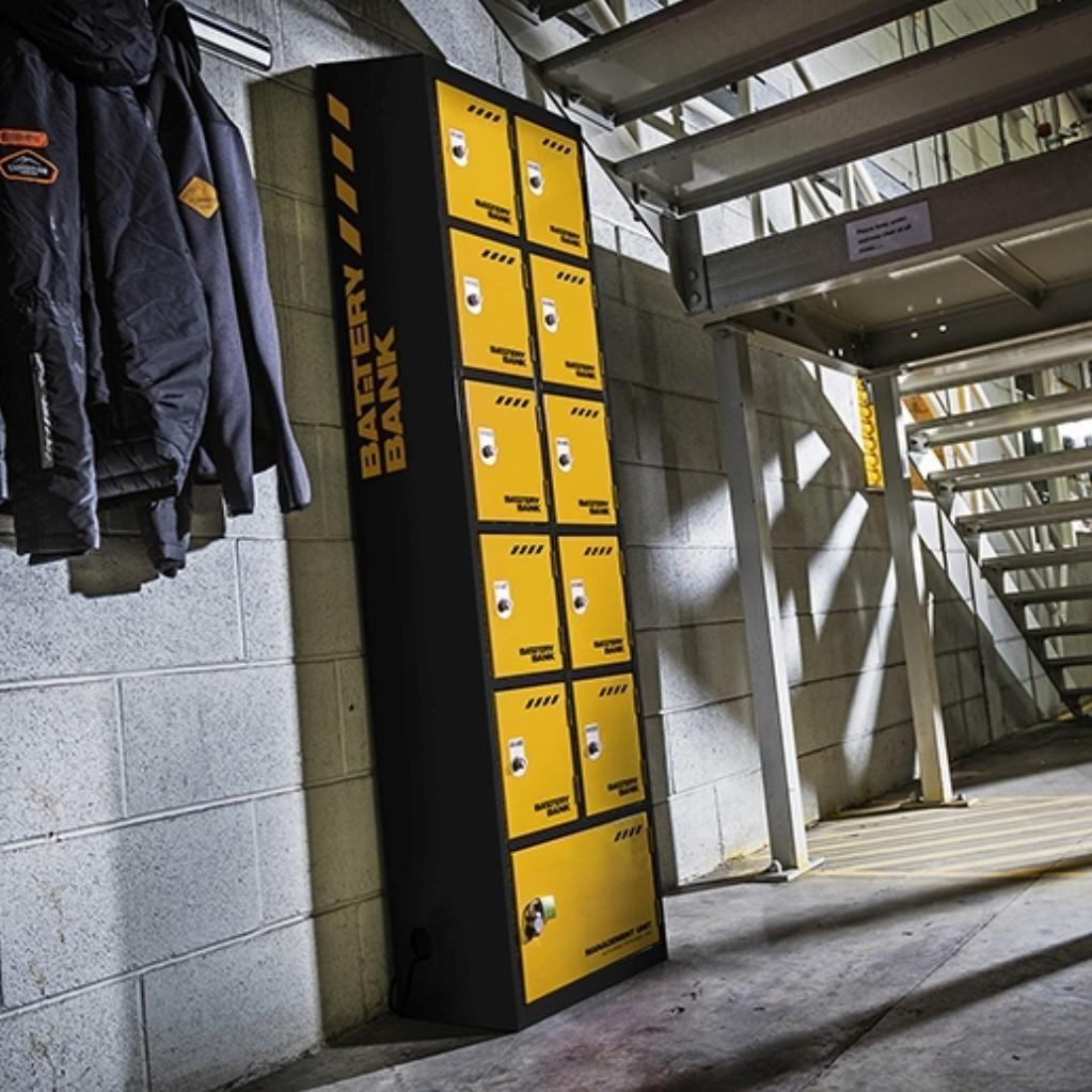 107eaaae8f Van Vault Battery Bank 10 Door Locker Charging Station with Defender  Electrical Charge Points