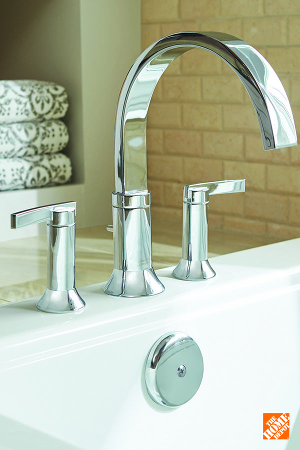 Pour Style Into Your Bathroom Update With The Right Faucet Like This Modern Take On A Classic