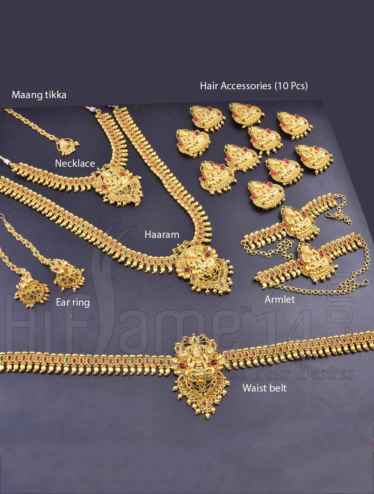 Rent Marriage Bridal Mahalakshmi Jewellery Set Online Free Delivery And Pickup Jewelry Design Earrings Bridal Jewelry Jewelry