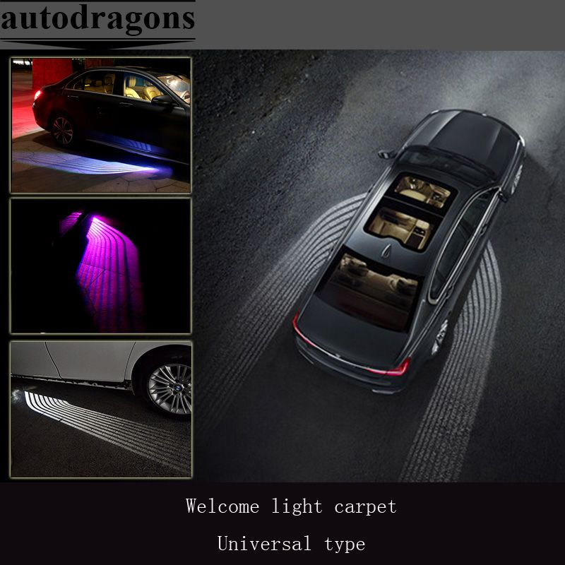 2 Car Welcome Light Carpet For B Mw 7 Series For All Car Led Ghost Shadow Angel Wings Projection Lamp Underbody Atmsphere Light High Qua Car Led Car Lights Bmw