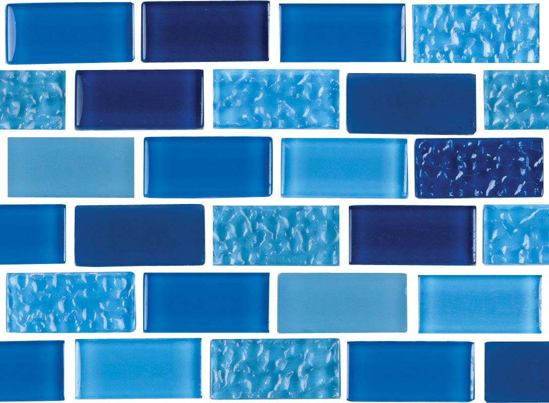 "Decorative Pool Tiles Fair Essence  Royal 1"" X 2"" Shop Now  Essence Glass Tile From Npta Decorating Inspiration"