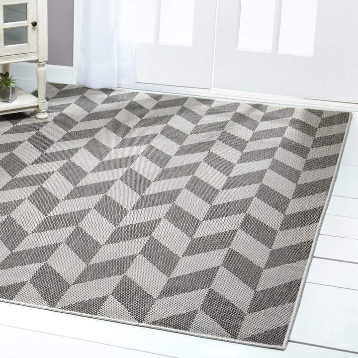 Geometric BlackGray IndoorOutdoor Area Rug  Joss  Mainarea
