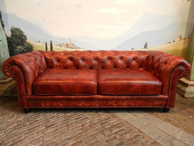 12650 Chesterfield Couch Sofa 2 5 Sitzer Schafsleder Rotbraun Echt Leder Settee Sofa Chesterfield Sofa Sofa