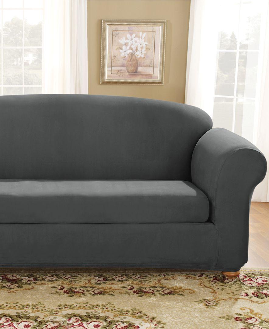 Sure Fit Stretch Suede Box Cushion Sofa