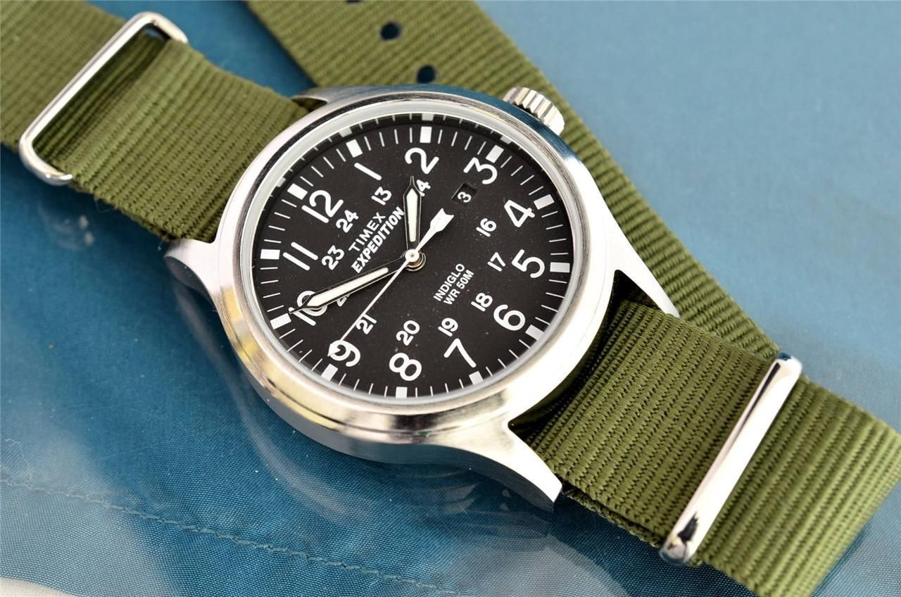 a7d1ad54524e Timex Expedition Scout T49962 on a green NATO strap