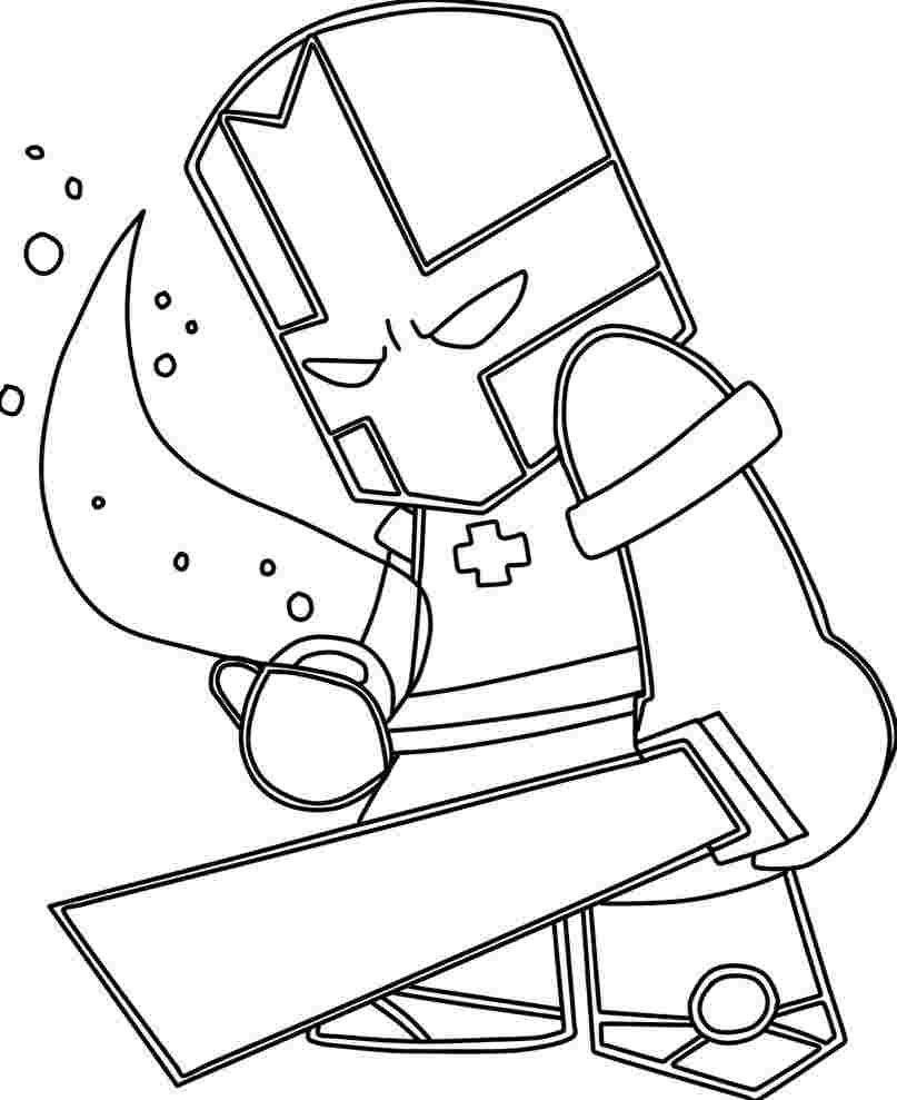 Castle Crashers Coloring Pages Castle Crashers Is A 2d Beat Em Up Video Game Developed By T Castle Crashers Castle Coloring Page Coloring Pages