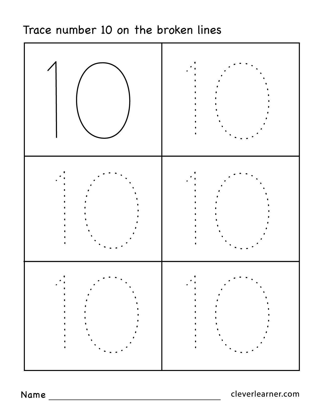 21 Number Tracing Worksheets Simbologia