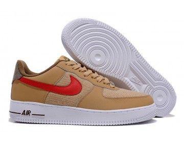 nike nike air force 1 basso mens scarpe cachi / rosso all'ingrosso