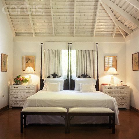 Wood plank ceilings symmetrical white bedroom with vaulted wood beam ceiling and tall twin Master bedroom ceiling beams