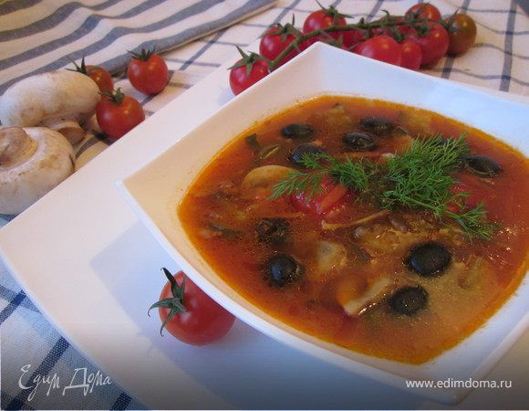 как приготовить грибную солянку суп