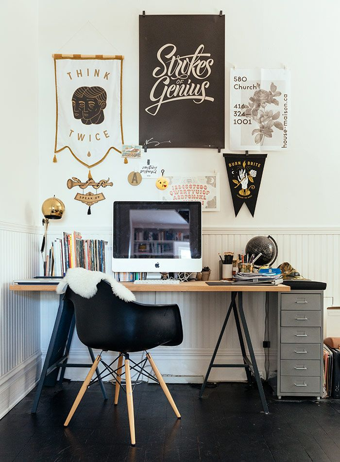 Eclectic workspace relaxed and creative Design