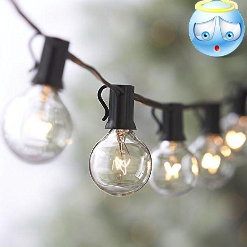 String Globe Lights Endearing Lumanux G40 Globe String Lights Set With 27 Clear G40 Bulbs Included Inspiration
