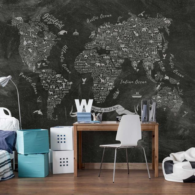 Carta da parati mappamondo Premium Mappa del mondo