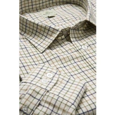 661468bb Hoggs of Fife Pure Cotton Tattersall Check Shirts Wine/Blue/Green Large: Amazon:Clothing