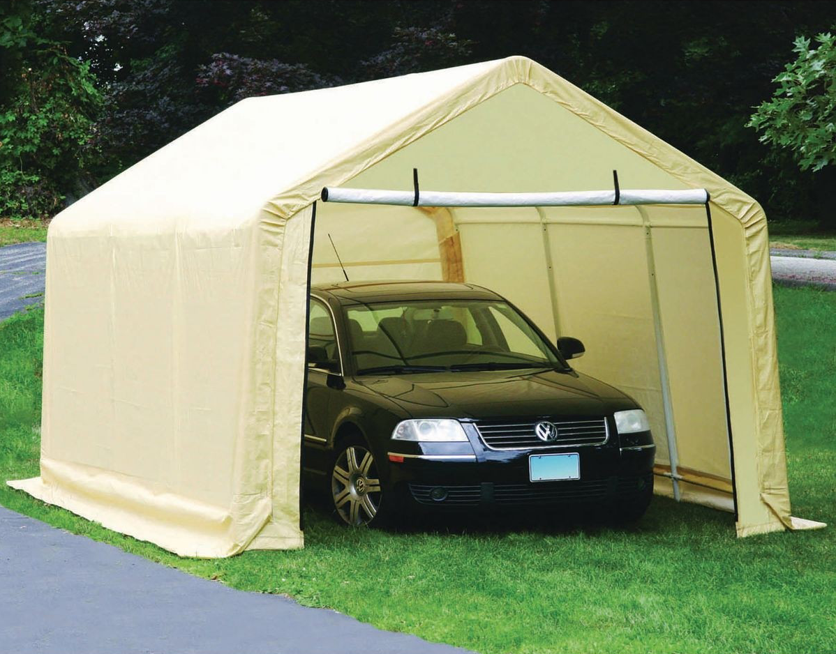 Buy The Coverpro 10 Ft X 17 Ft Portable Garage For 169 99 Portable Garage Shed House Plans Car Canopy