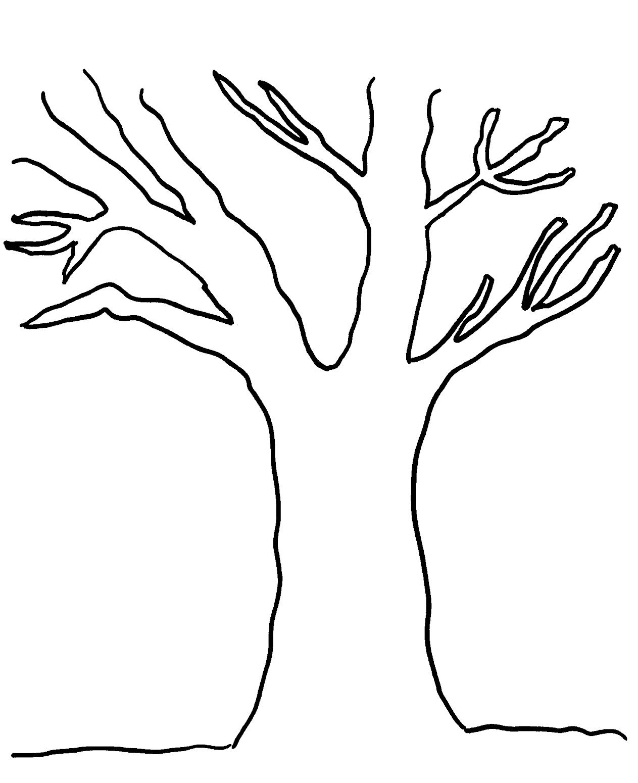 printable tree out leaves coloring pages printable
