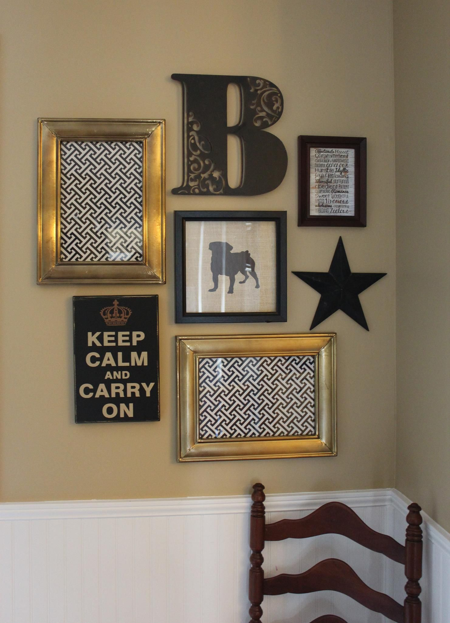 Art grouping idea love the black and white love it home pinterest