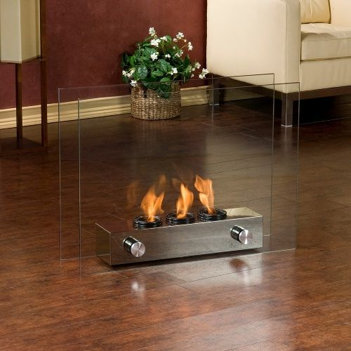 Southern Enterprises Loft Portable Indoor/Outdoor Fireplace - Fire ...