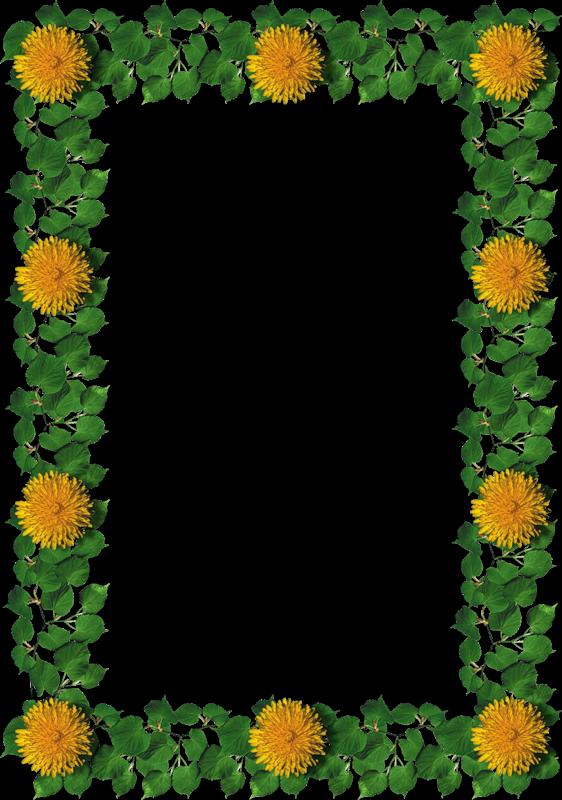 dandelion frame scrapbooking