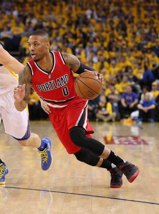 release date: 56309 1b721 Damian Lillard in action during a Western Conference semi-finals match  between Golden State Warriors and Portland Trail Blazers on May 11, 2016.