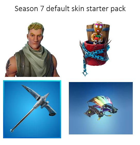 Season 7 Default Skin Starter Pack Via R Fortnitebr Starter Pack Season 7 Fortnite